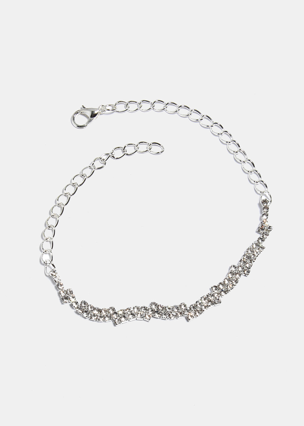 Stacked Gem Chain Anklet