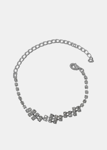 Staggered Gemstone Anklet