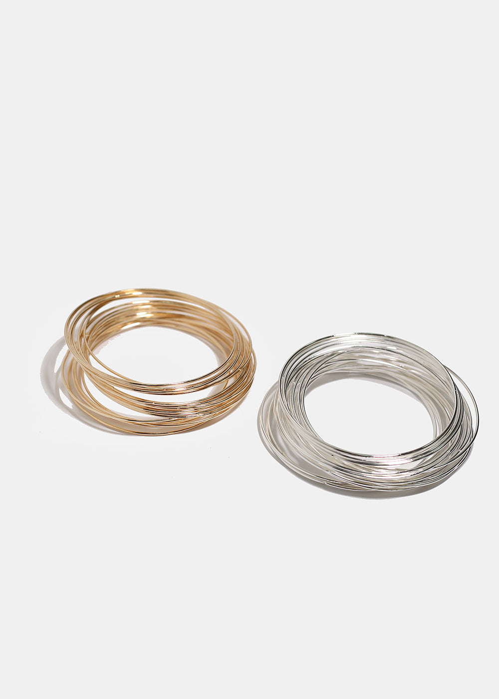 24-Piece Thin Metal Bangle Set