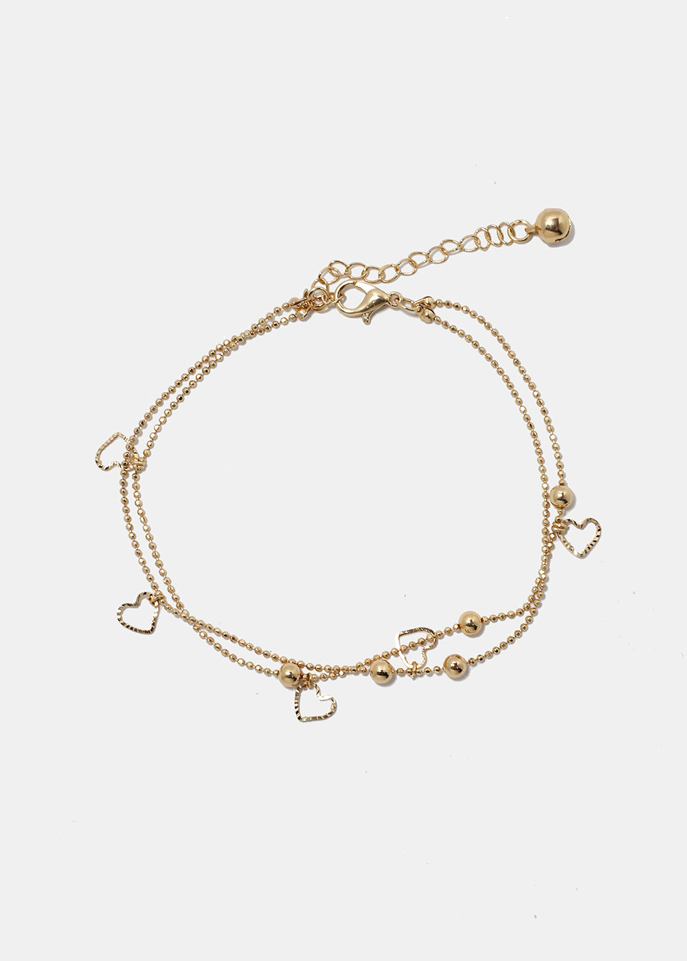 Heart Dangle Chain Anklet