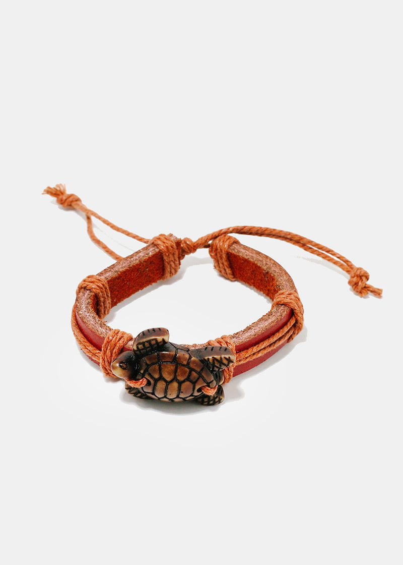 Turtle Faux Leather Bracelet