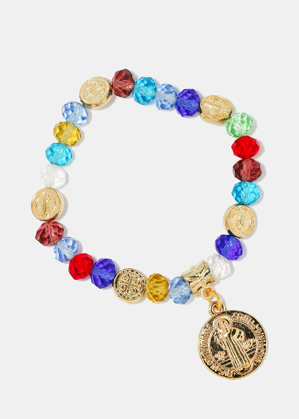 St. Benedict Multi-Color Bead Bracelet