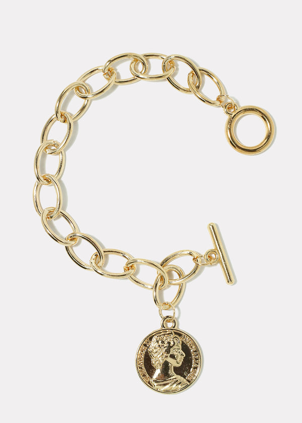 Republique Francaise Coin Chain Link Bracelet