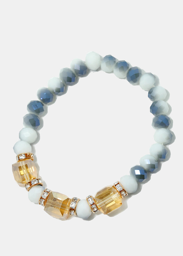 Gemstone & Bead Bracelet