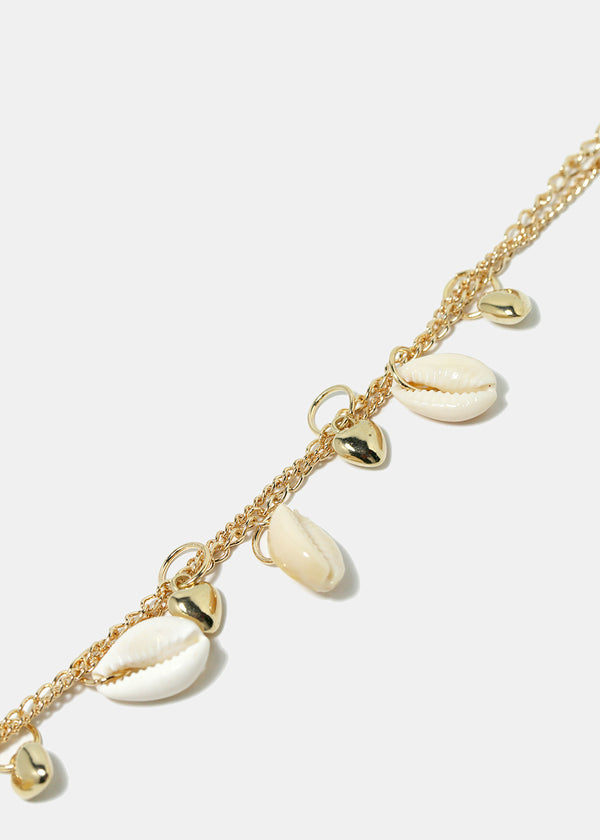 Cowrie Shell & Heart Anklet