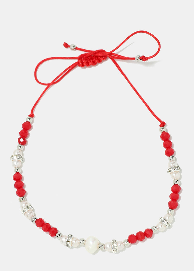 Beaded String Anklet