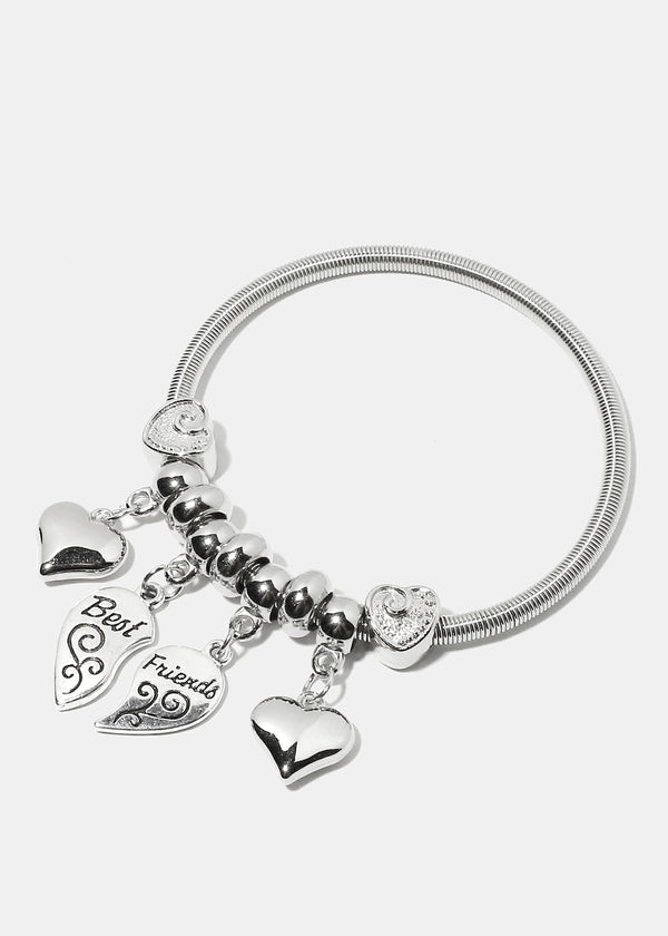 """BEST FRIEND"" Multi Charm Bracelet"