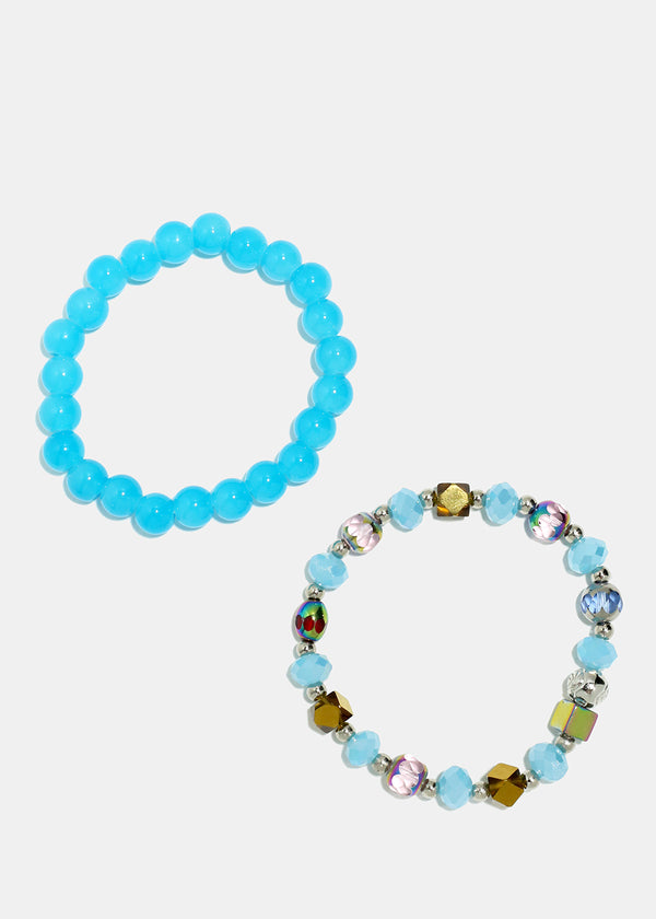 2-Piece Multi Bead Bracelet