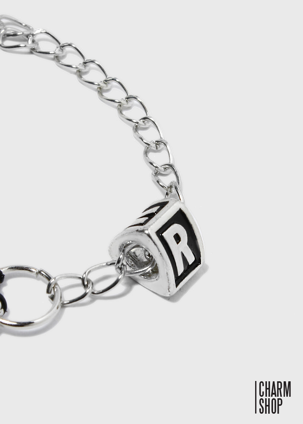 Letter R Block Bead Charm
