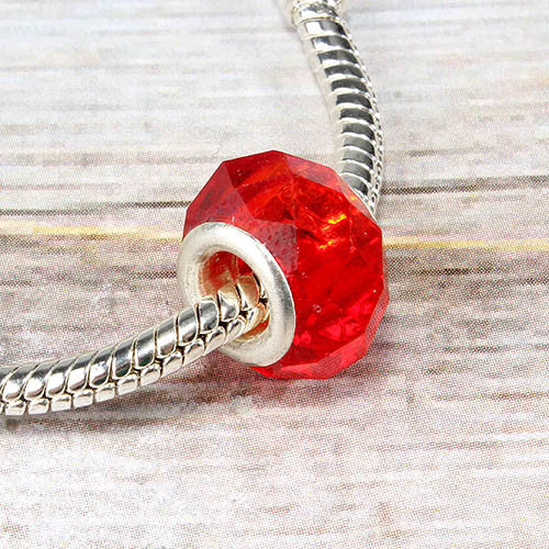 Bead Material Blender ~ Red crystal bead charm shop miss a