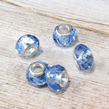 Blue Crystal Bead Charm