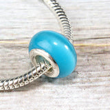Light Blue Glass Bead Charm