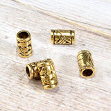 Gold Cylinder Bead Charm