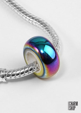 Multi Color Pearlescent Bead Charm