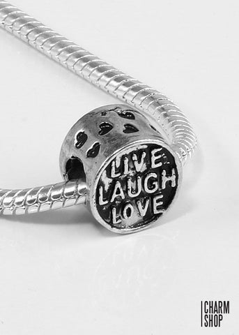 Live Laugh Love Bead Charm