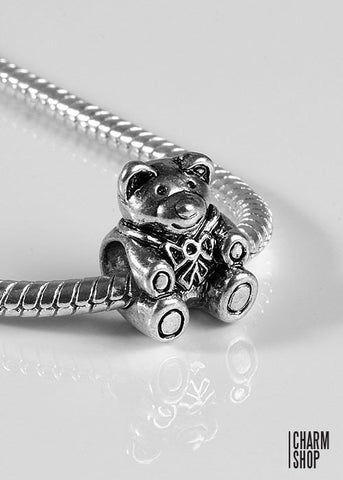 Cute Teddy Bear Bead Charm