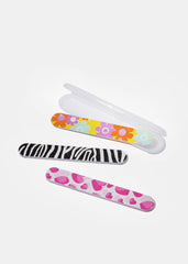 Cute Print Nail File & Travel Case