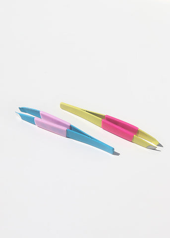 Two-Tone Slanted Tweezers