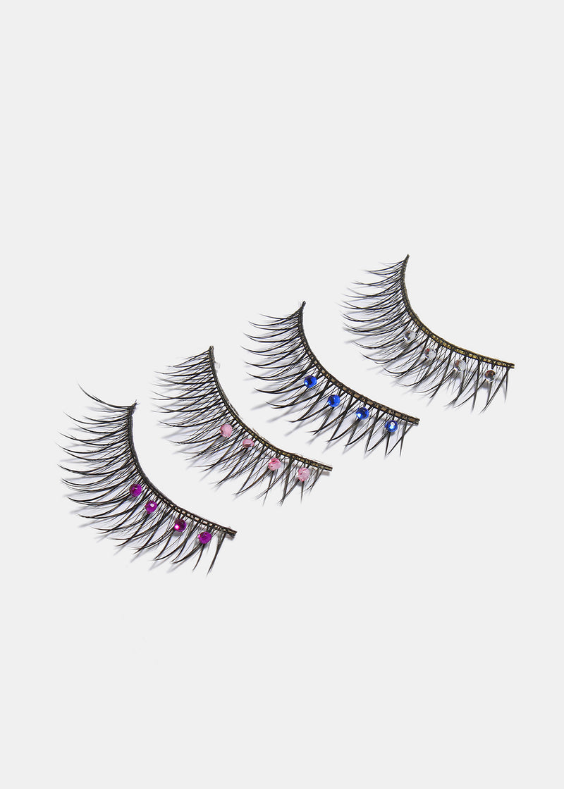 Party Lashes- Crisscross with Outer Crystals