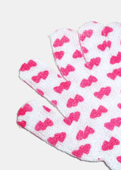 Bath Gloves- Heart Print