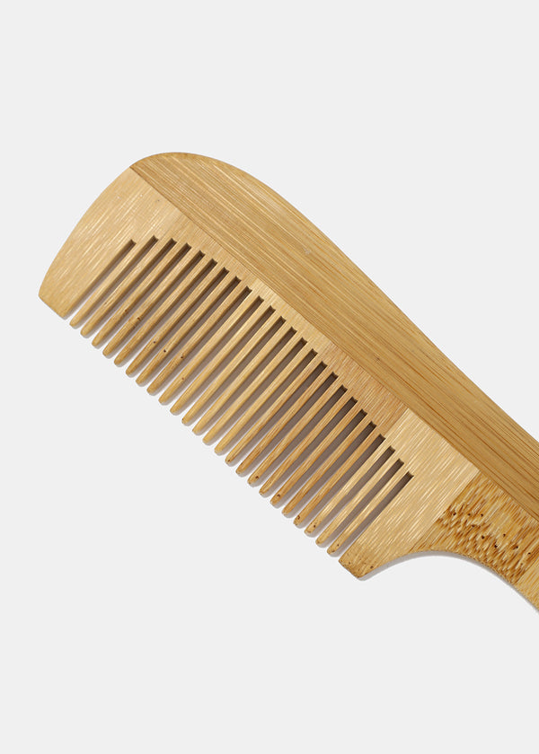Bamboo Hair Comb with Handle
