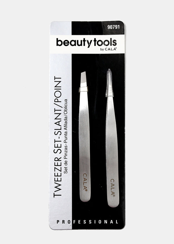 Cala Slant & Point Tweezers Set