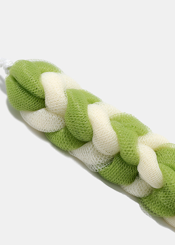 Braided Loofah Sponge - Green
