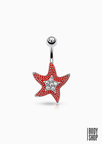 Starfish Navel Ring 316L