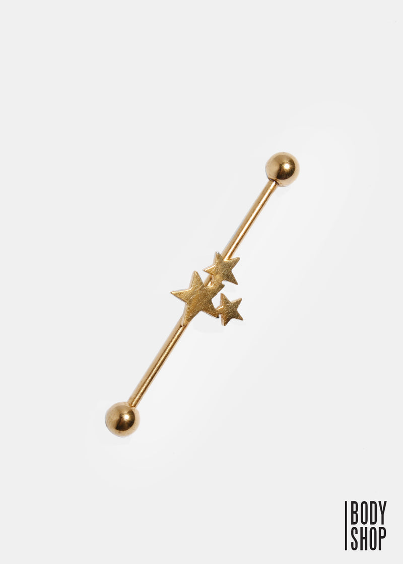 Three Star Industrial Barbell - Gold