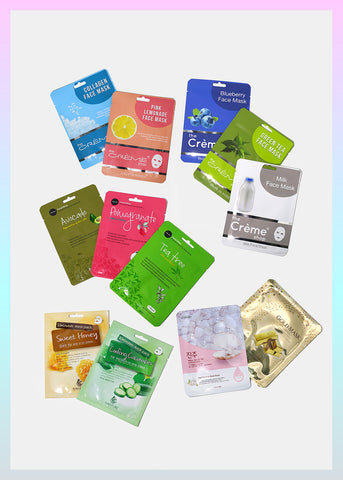 Cliques: 12-Piece K-Beauty Sheet Mask Set