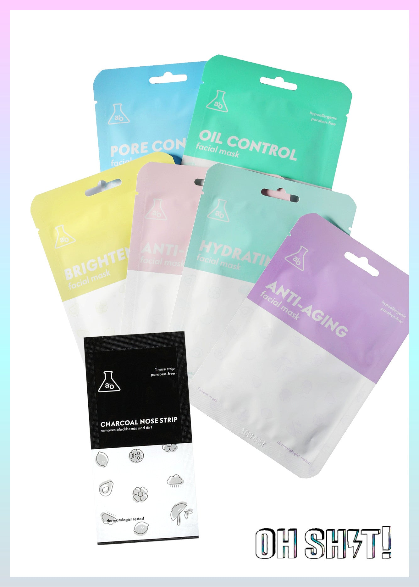 Oh Sh⚡️t a2o Lab Facial Mask Set -$6 (Retail $13)
