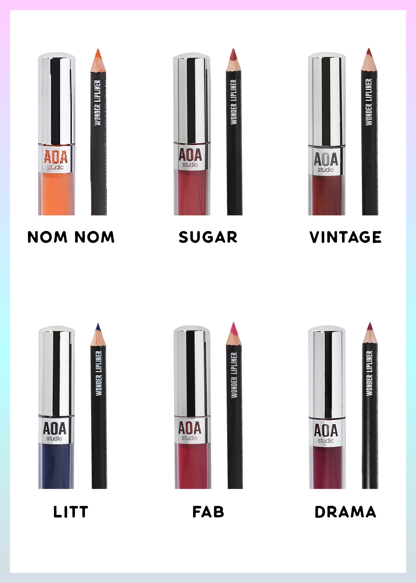 Gift Set: AOA Matte Lip Duo (12 Sets)