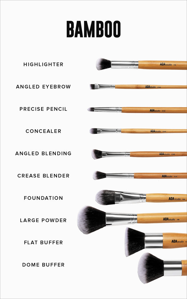 A+: 10-Piece Bamboo Brush Set