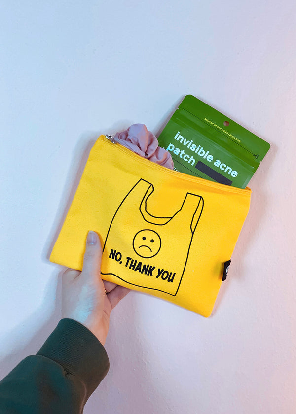 Re-Use Canvas Pouch - Be Happy
