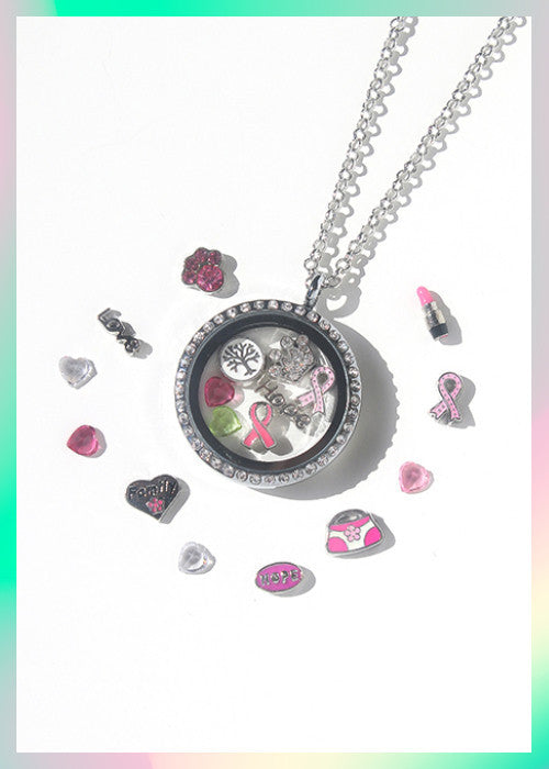 Kits: Pink Ribbon Survivor Locket Charm Set