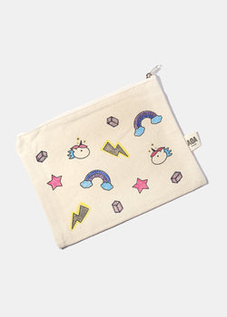 AOA Canvas Pouch - Rainbows & Unicorns Sketch