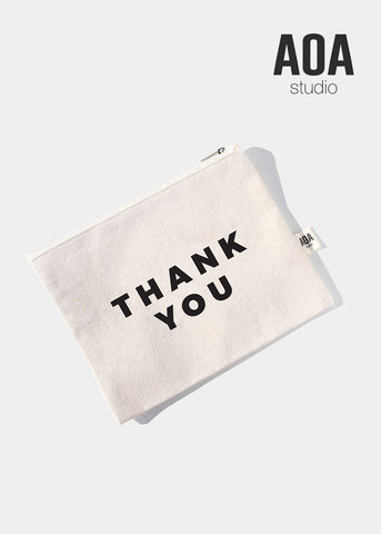 AOA Canvas Pouch - Thank You