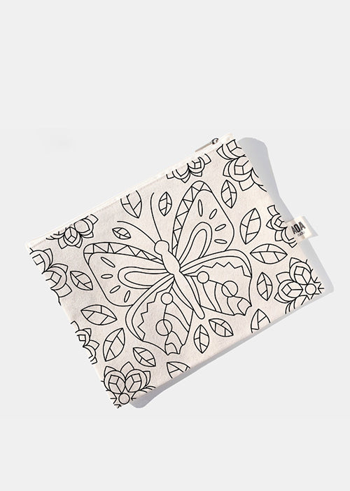 AOA Canvas Pouch - Butterfly Sketch