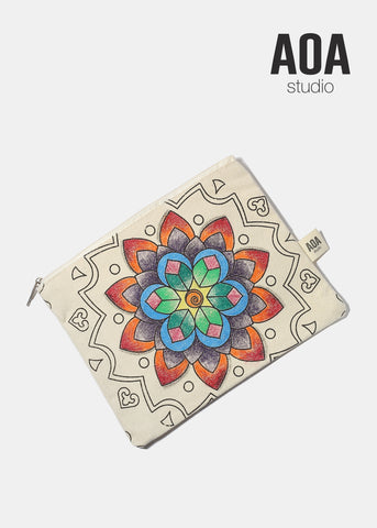 AOA Canvas Pouch - Flower Sketch