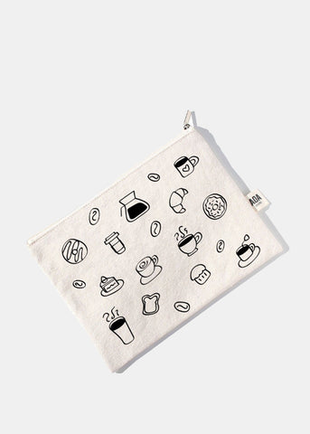AOA Canvas Pouch - Coffee Sketch