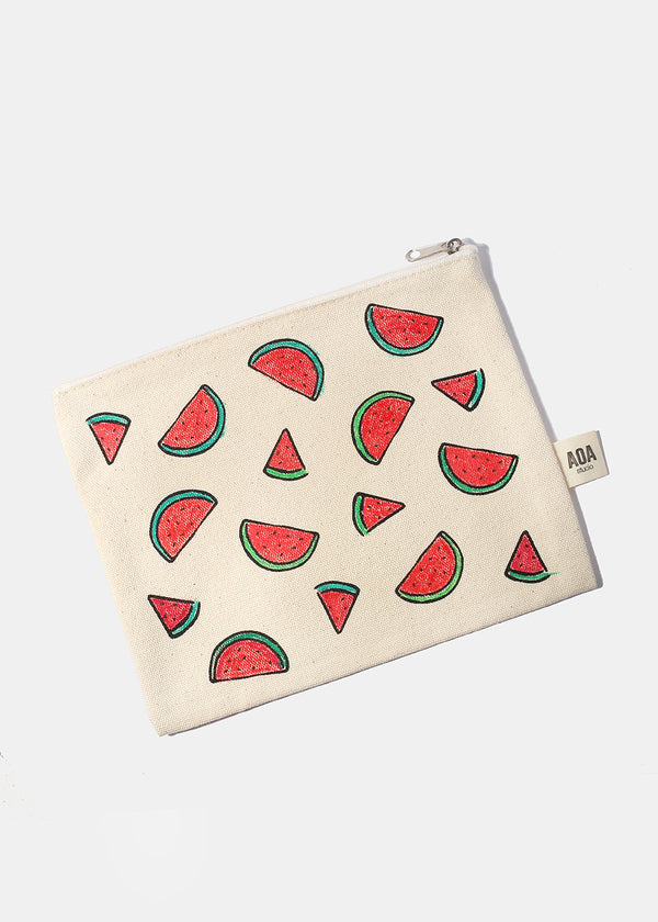 AOA Canvas Pouch - Watermelon Sketch