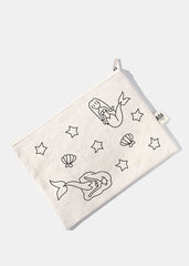 AOA Canvas Pouch - Mermaid Sketch