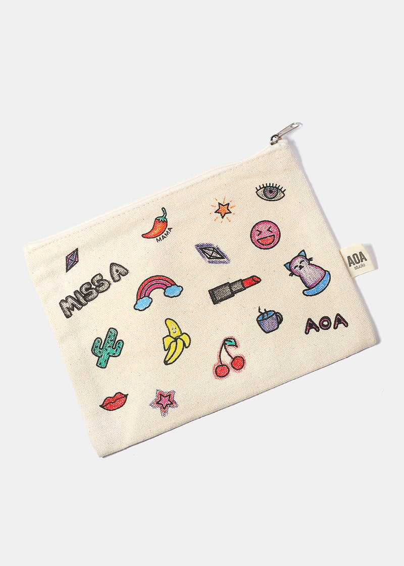 AOA Canvas Pouch - Miss A Sketch