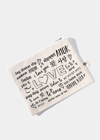 AOA Canvas Pouch - Many Ways to Say Love