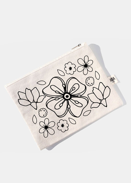 AOA Canvas Pouch - Spring Flower Sketch
