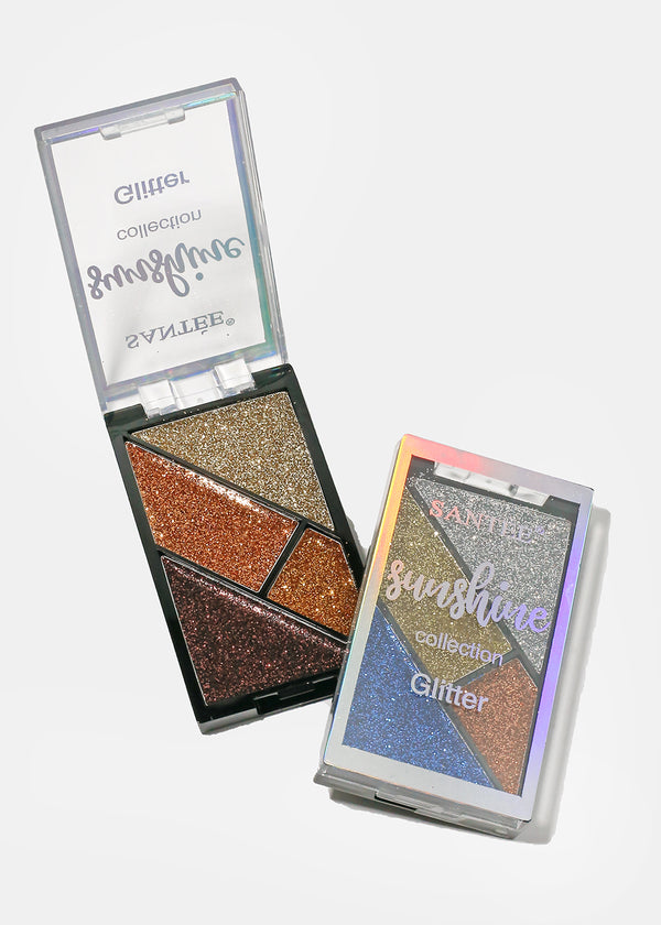 Sunshine 4 Color Glitter Shadows
