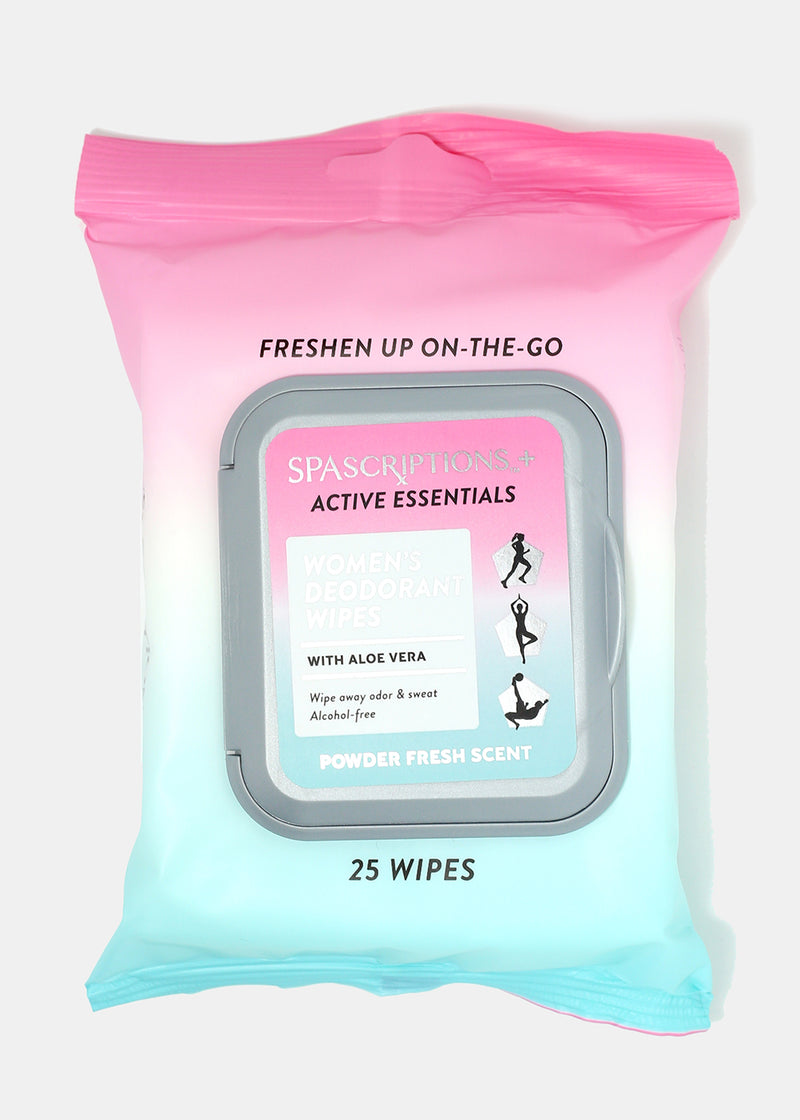 Spascriptions Deodorant Wipes with Aloe Vera