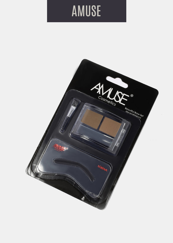 Amuse Duo Eyebrow Shadow- Light