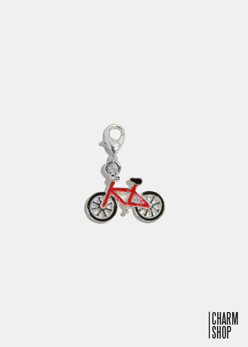 Red Bicycle Dangle Charm
