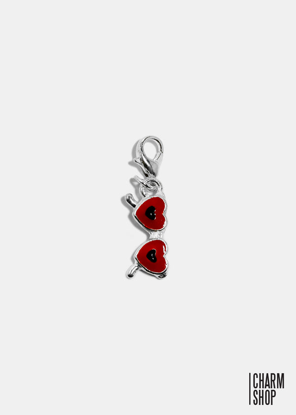 Red Heart Sunglasses Dangle Charm